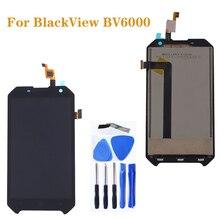"""4.7 """"الأصلي ل Blackview BV6000 LCD + شاشة تعمل باللمس الزجاج مكون محول الأرقام الجمعية ل Blackview BV 6000 عرض طقم تصليح"""