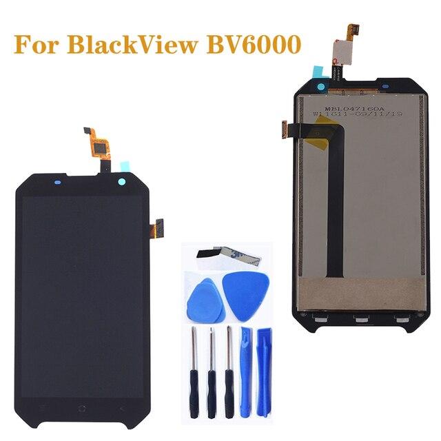 "4.7 ""Original สำหรับ Blackview BV6000 LCD + หน้าจอสัมผัสส่วนประกอบ Digitizer สำหรับ Blackview BV 6000 จอแสดงผลซ่อมชุด"