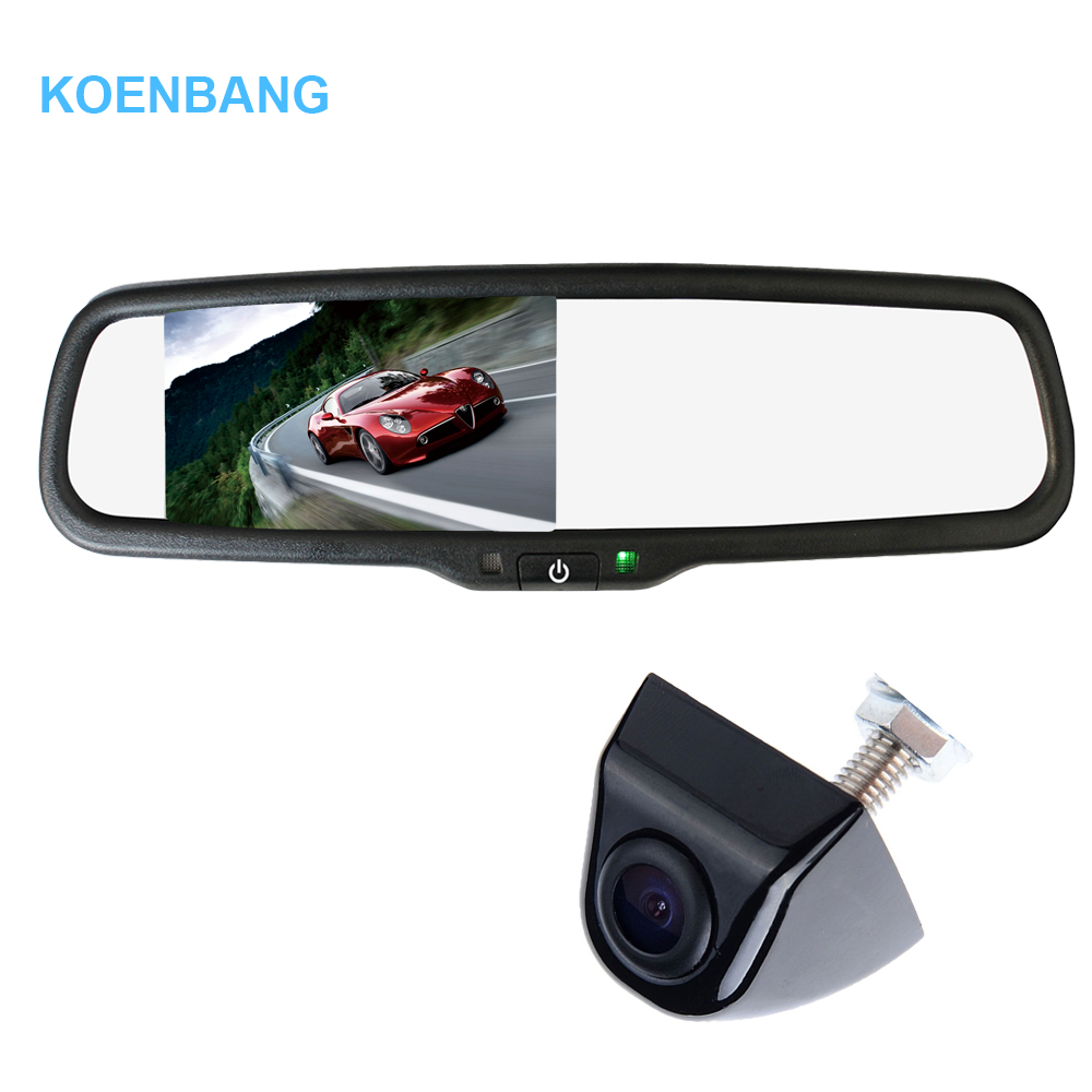 KOENBANG 4 3 TFT LCD Car Rear View Mirror Monitor 1000cd m2 2 way Video Input