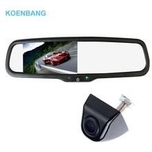 """KOENBANG 4.3 """"TFT LCD de Coches Retrovisor Monitor 1000cd/m2 $ number vías de Entrada de Vídeo para Cámara de Visión Trasera Inversa Cámara de Auto"""