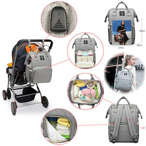 Image 3 - Сумки для подгузников Lequeen с USB интерфейсом, для мам, большие дорожные рюкзаки для младенцев, дизайнерская сумка для ухода за детьми