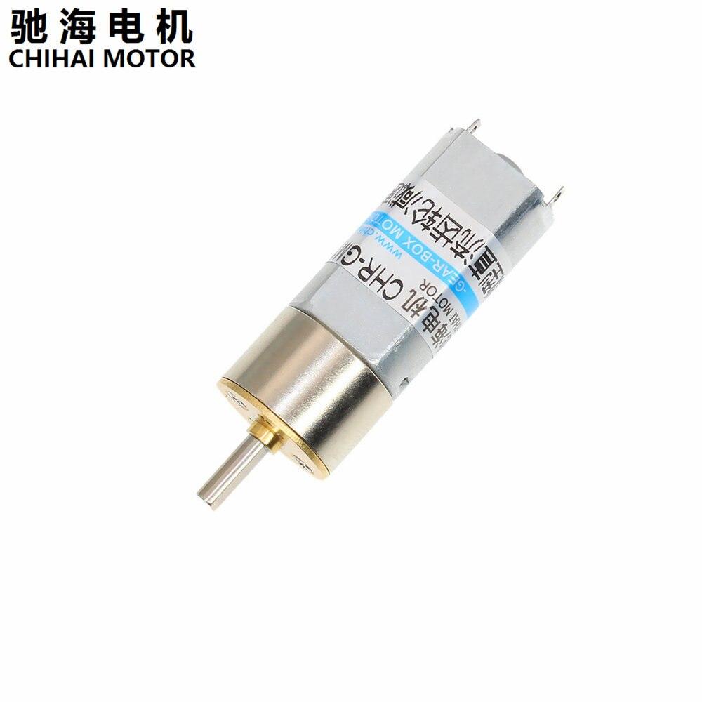 ChiHai CHR-GM16-050SH Ímã Permanente Do Motor DC Em Miniatura de Metal Dente Motor De Redução de Velocidade DV 6v 12V