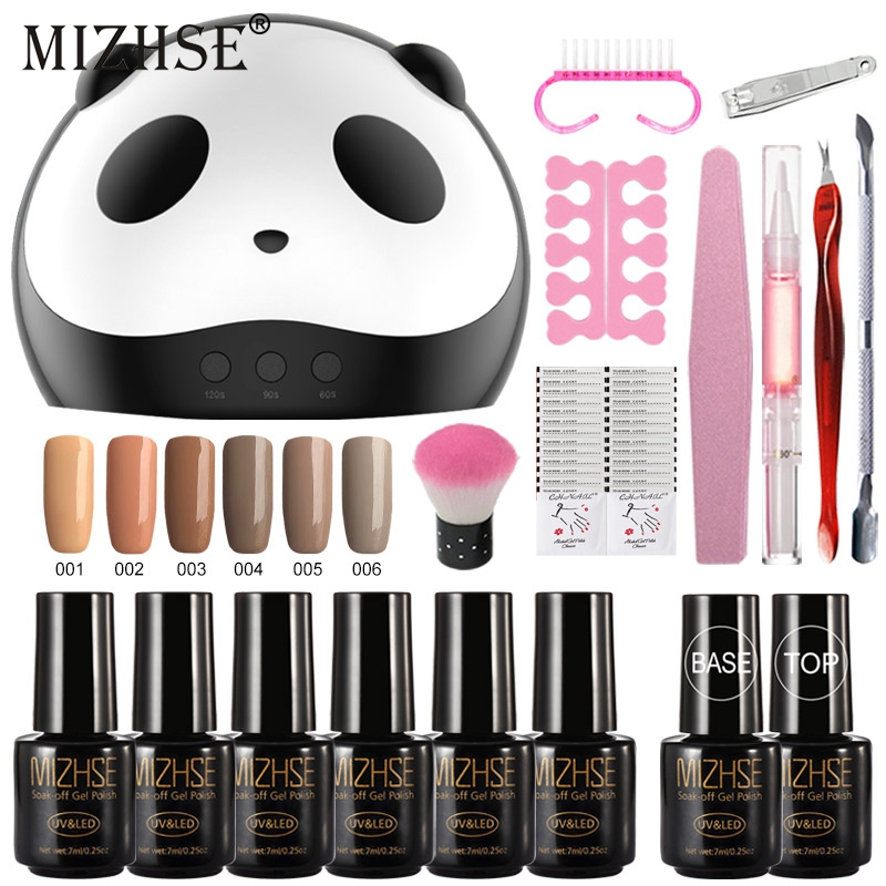 MIZHSE UV Gel Nail Art Kits 36w Nail Dryer Lamp Manicure UV Gel Polish Set For Nail Extension Varnish Lacquer Manicure Tools Kit-in Sets & Kits from Beauty & Health