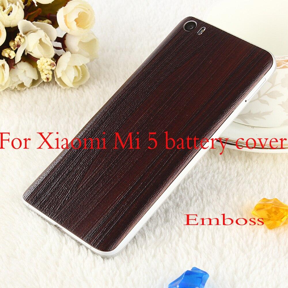 Emboss For Xiaomi Mi5 Plastic Battery Back Cover For Xiaomi Mi 5 M5 Battery Cover Replacement