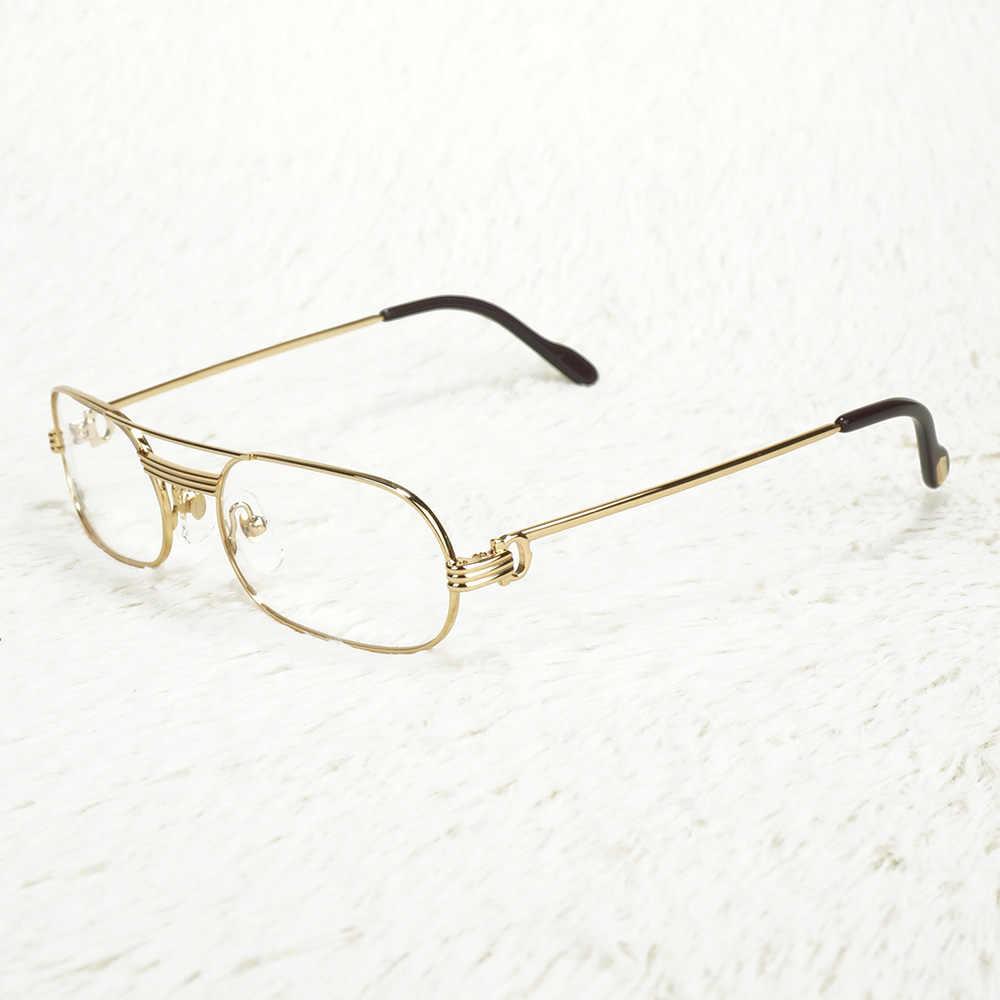 小型メタルフレーム男性サングラス読書男性ヴィンテージ眼鏡女性処方シェードコンピュータメガネ