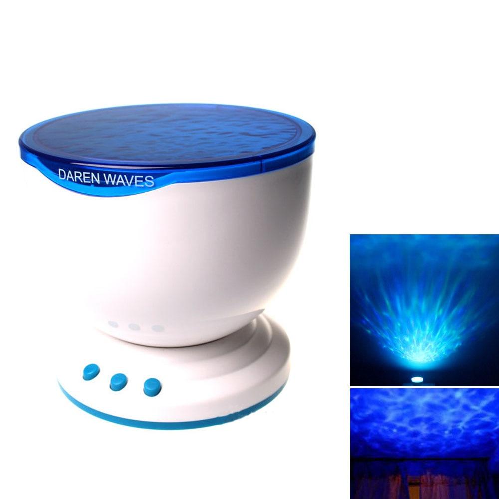 цена на Multicolor Projector Romantic Aurora Master LED Light Ocean Wave Night Light Projector Lamp With Mini Speaker