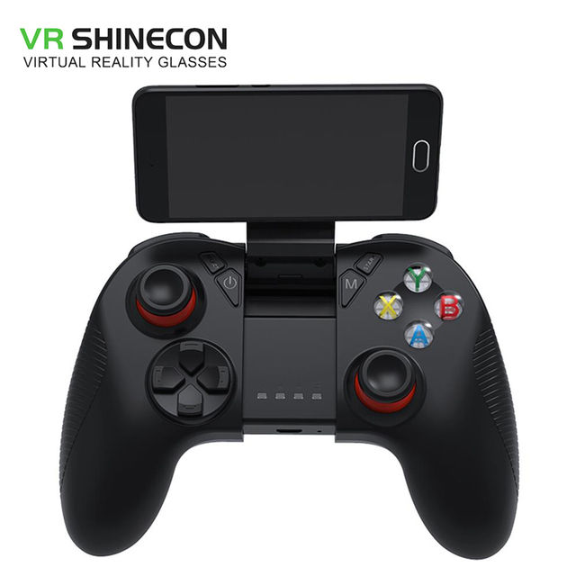 US $23 7 |VR SHINECON SC B04 Bluetooth BattleDock Keyboard Mouse Converter  for iOS/Android FPS PUBG like Games Adapte pubg mobile legends-in Gamepads