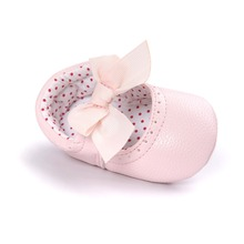 pink color butterfly knot  girls boys sneakers infant shoes pu leather fashion Newborn Babe shoes 0~18month