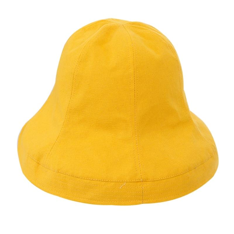 Women Fashion Cotton Linen Bucket Hats Outdoor Plain Wide Brim Casual Fisherman Girl Hat Ladies Beach Reversible Cap in Women 39 s Bucket Hats from Apparel Accessories