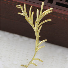Flower Leaf Branch Pendant Charms Connectors Brass Metal Fin