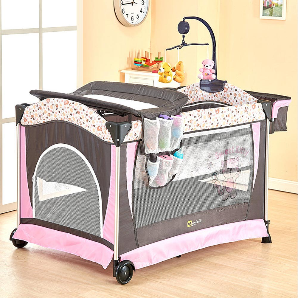 Portable Baby Crib Multi Functional Folding Baby Bed With Diapers Changing  Table Travel Child Game Beds For Infant Cradle In Baby Cribs From Mother U0026  Kids ...