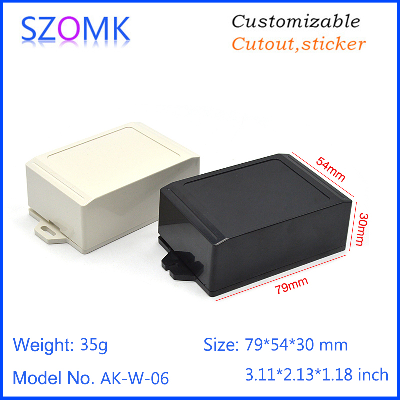 szomk wall mounted plastic enclosure for electronics project instrument plastic housing junction box abs plastic casing (7)