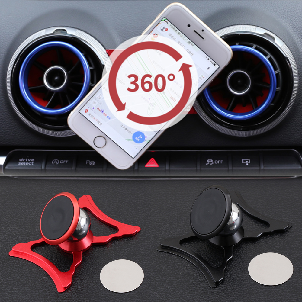 Car Phone Holder For Audi A3 S3 8V Air Vent Mount Car Styling Bracket GPS Stand 360 Degree Rotatable Support Mobile Accessories-in Car Stickers from Automobiles & Motorcycles