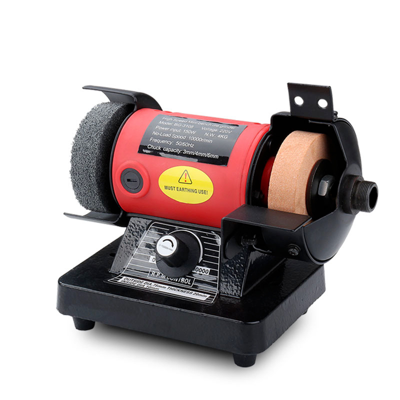 Mini Bench Grinder Electric Versatility Grinding Machine 3mm Chuck Variable Speed Rotary Tool