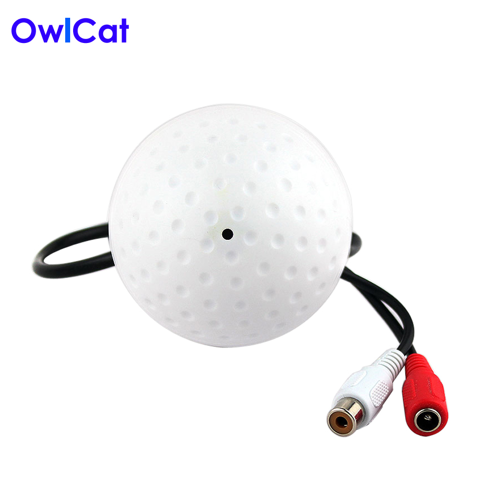 OwlCat Sound Monitor 5-150 Square Meters Mini CCTV Security Surveillance Microphone CCTV Camera Audio Pickup цена