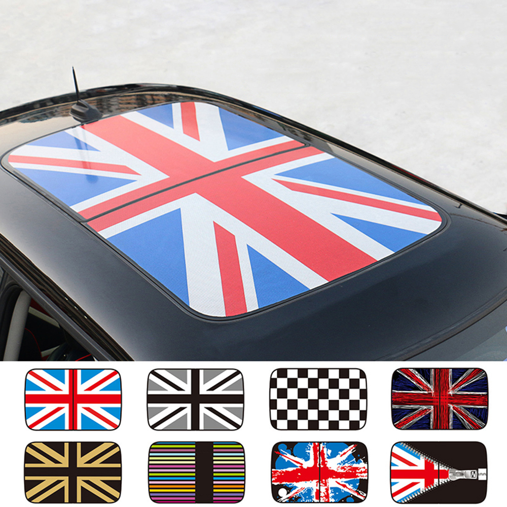Semitransparent Sunroof Roof Sticker Car Styling For MINI Cooper JCW R55 R56 R57 R58 R59 R60 R61 Countryman Clubman Accessories aliauto car styling side door sticker and decals accessories for mini cooper countryman r50 r52 r53 r58 r56