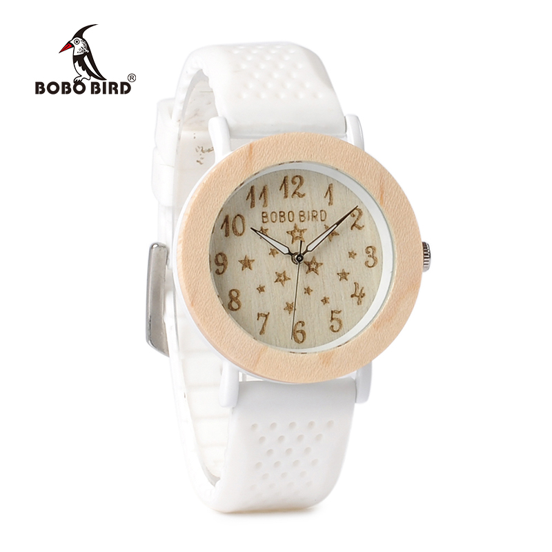 BOBO BIRD New Arrival Top Brand Design Wood Watches for Womens Silicone Band Ladies Wrist Watch quartz clock in gift box