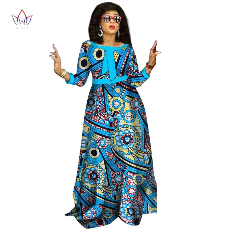 2017 afrikanske kjoler til damer Mote Design dashiki kvinner bazin - Nasjonale klær - Bilde 2