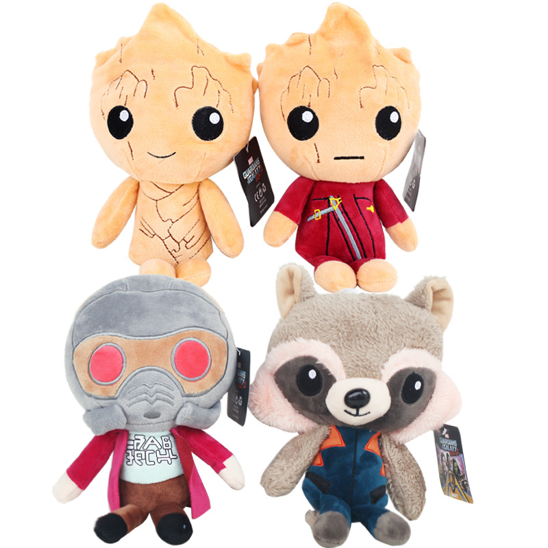 Guardians Of The Galaxy 2 Plush Toys 22cm Tree Man Rocket Raccoon Star-Lord Plush Soft Stuffed Toys Doll for Kids Children Gift brand new crackle the dragon plush from sofia the first show 12 baby toys for children stuffed