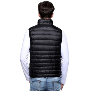 Image 4 - Spring Man Duck Down Vest Ultra Light Jackets Men Fashion Sleeveless Outerwear Coat Autumn Winter Coat 90% White Duck Down