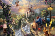Beauty and The Beast fairy tale fantasy QR71 room home wall modern art decor wood frame poster