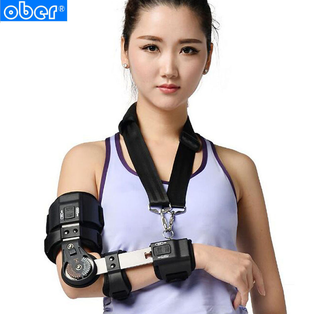 Adjustable Elbow Brace ROM Arm Stretched Straight Cerebral Stroke Hemiplegia Correction Adult Children Orthotics tools EO-30 factory direct sale hinge elbow brace arm support medical orthopedic orthotics supports
