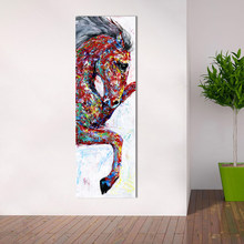 HDARTISAN Wall Art Canvas Painting Animal Picture Poster Prints Horse Painting Home Decor No Frame(China)