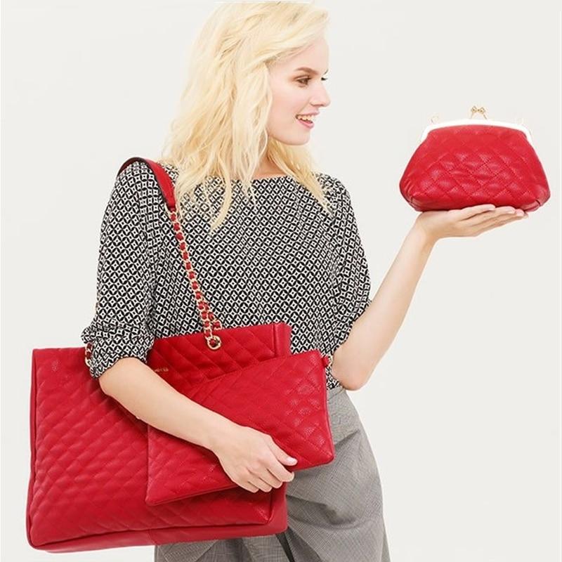AMELIE GALANTI sac à bandoulière femme grande taille motif géométrique décontracté sac fourre-tout trois sacs indépendants sac à bandoulière femme sac à main - 3