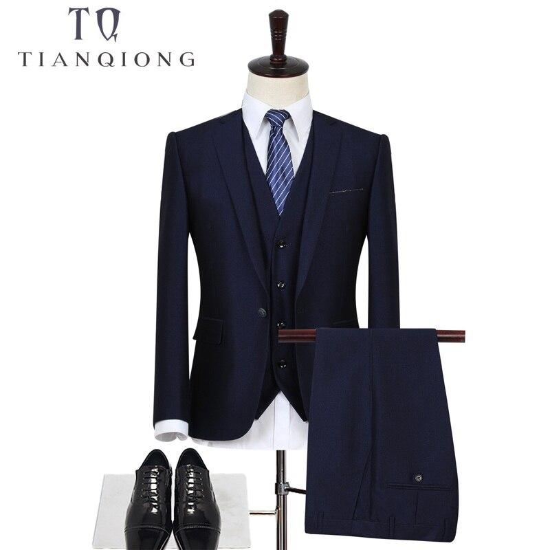 TIAN QIONG Kostume për burra blu me stil blu Tuxedos Dhoma të - Veshje për meshkuj