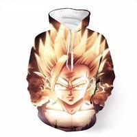 New 2018 Anime Dragon Ball Z Super Saiyan Hoodies Harajuku Hip Hop Desgin Men Pullovers Hooded Sweatshirts