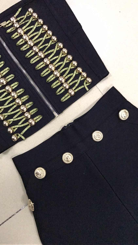 Женский комплект из 2 предметов, черный и красный цвета, Золотая кнопка, украшение, без бретелек, с ремешками, праздничная одежда на выход, ночная одежда, бандажный женский костюм