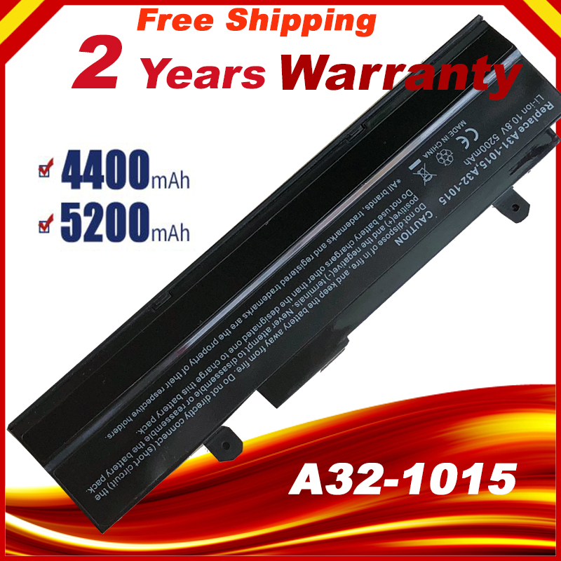HSW New 5200mAH Black Laptop battery For Asus Eee PC VX6 1011 <font><b>1015</b></font> 1015P 1015PE 1016 1215N 1215B A31-<font><b>1015</b></font> <font><b>A32</b></font> fast shipping image