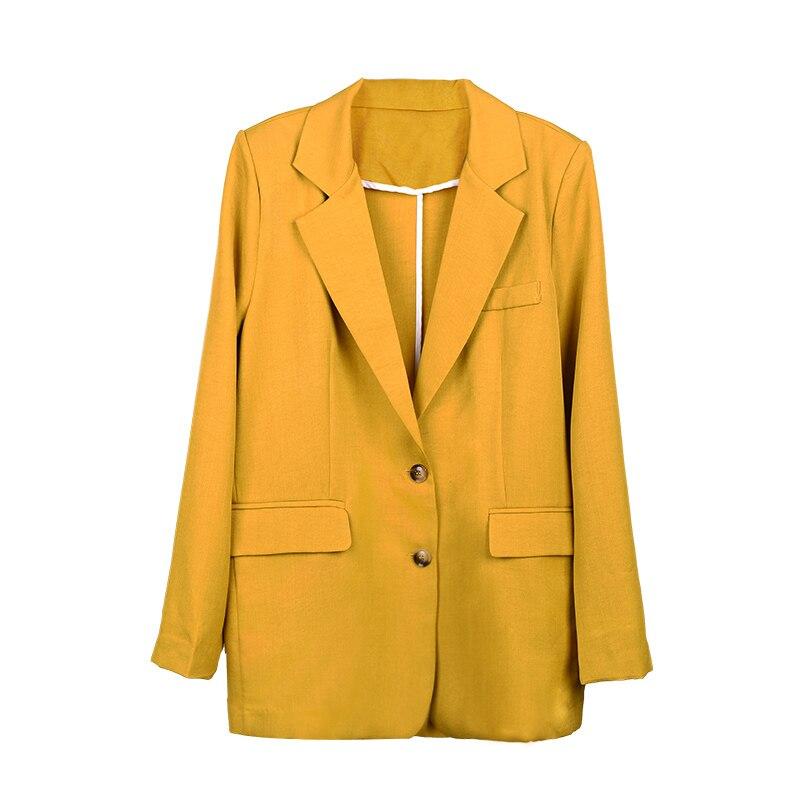 Outwear Black Blazer Long Lâche Gray De Décontracté j18qa2261 Costume j18qa2261 Femmes Automne Oversize Khaki Blazers Lady Femme Office Yellow j18qa2261 Printemps Veste Affaires Combinaison J18qa2261 v6ZxU0nRwq