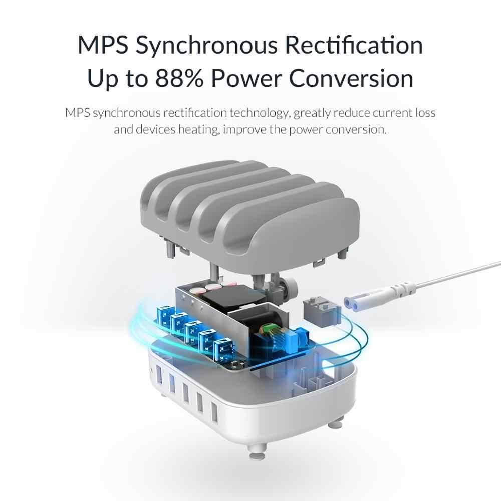 ORICO USB 40W Max 5 Cổng USB Đế Cắm Kèm Giá Đựng USB Sạc Cho Điện Thoại Máy Tính Bảng Tại Nhà công Chúng 5V2.4*5