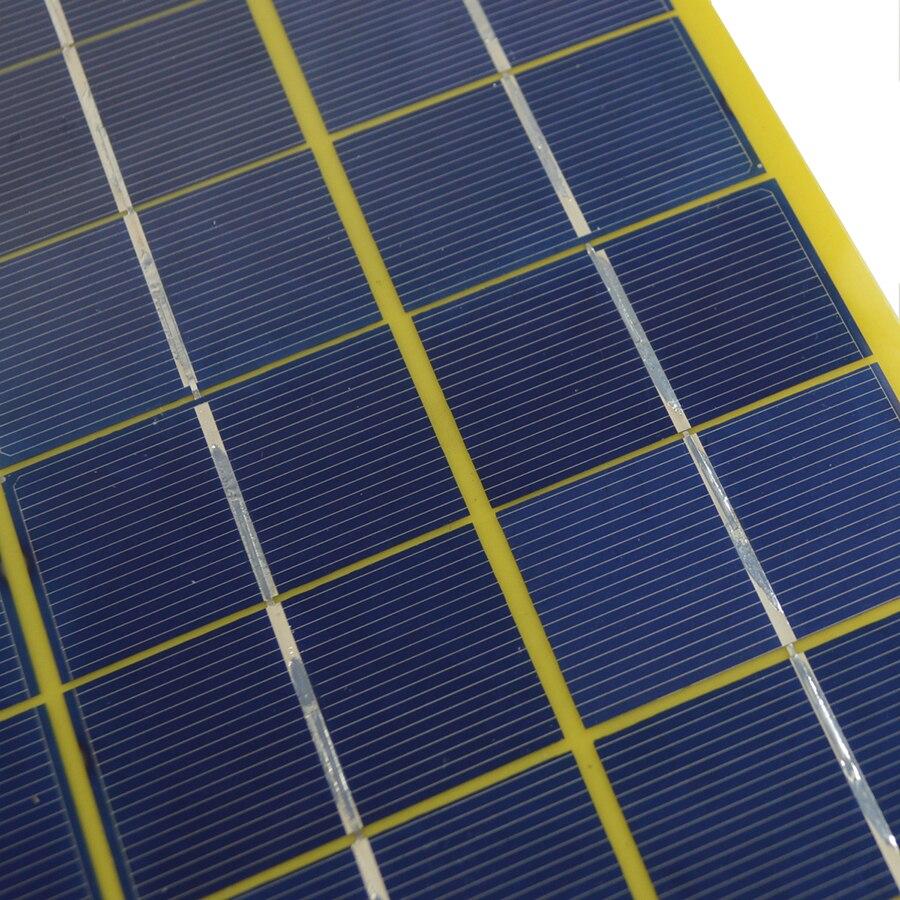 SUNWALK 2pcs 10W Mono Solar Panel Charger with Battery Alligator Clip 18V Solar Module for Charging 12V Battery