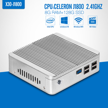 Fanless MINI PC desktop Tablet Computer celeron J1800 N2840 N2830 DDR3 RAM 8G,SSD Optional Laptop PC Windows 7/8.1