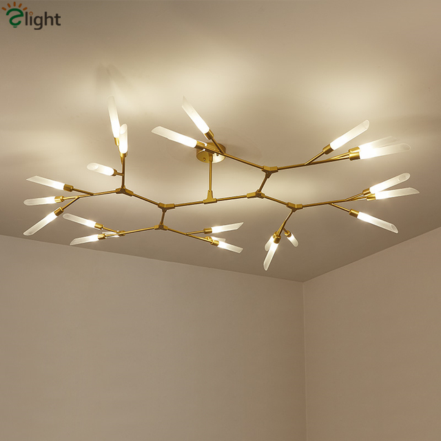 Post modern rotatable branch led chandelier matt black gold post modern rotatable branch led chandelier matt black gold chandelier lighting glass tube shades led lighting mozeypictures Image collections