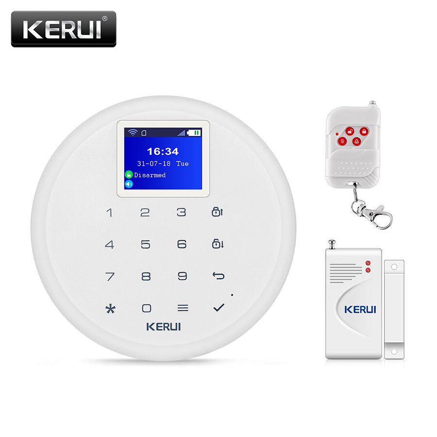 KERUI W17 IOS Android APP Remote Control Alarm System Wireless WIFI SIM GSM Home Burglar Security EN RU ES DE IT FR Switchable KERUI W17 IOS Android APP Remote Control Alarm System Wireless WIFI SIM GSM Home Burglar Security EN RU ES DE IT FR Switchable