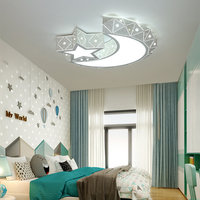 Moon Stars Dimmable Led Ceiling Lights Fixtures Kitchen Mounted Lamp Ceiling Led Lamp with Remote Control for Kids Children Room