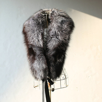 Fur on the Collar 120cm 100% Real Natural Raccoon Fur Collar Winter Thick Long Neck For Down Coat Sweater Women's Scarves R867