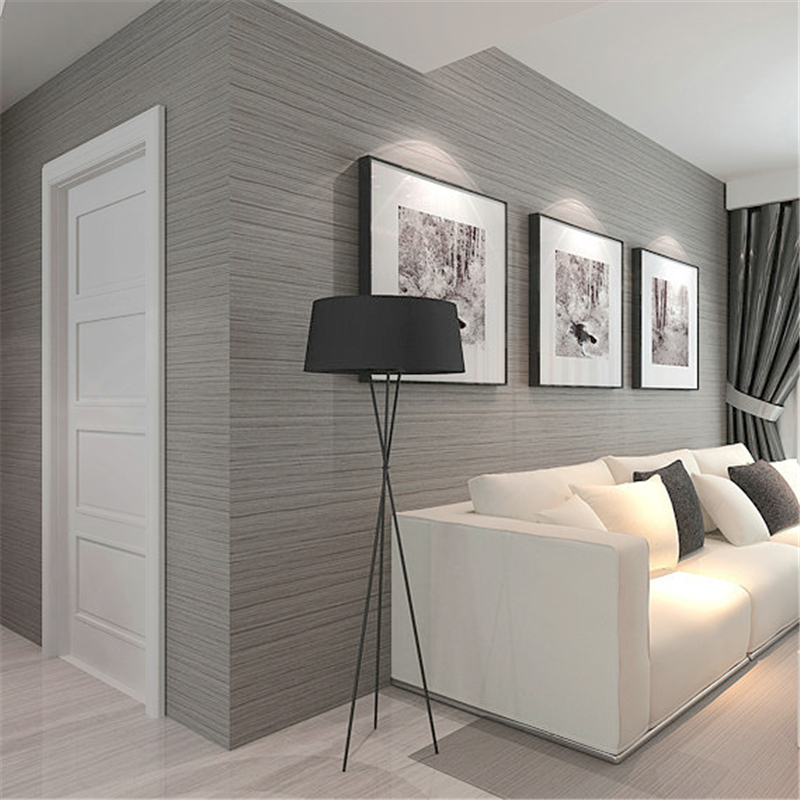 Beibehang dark gray wallpaper simple modern stereo fine for Parati da salone