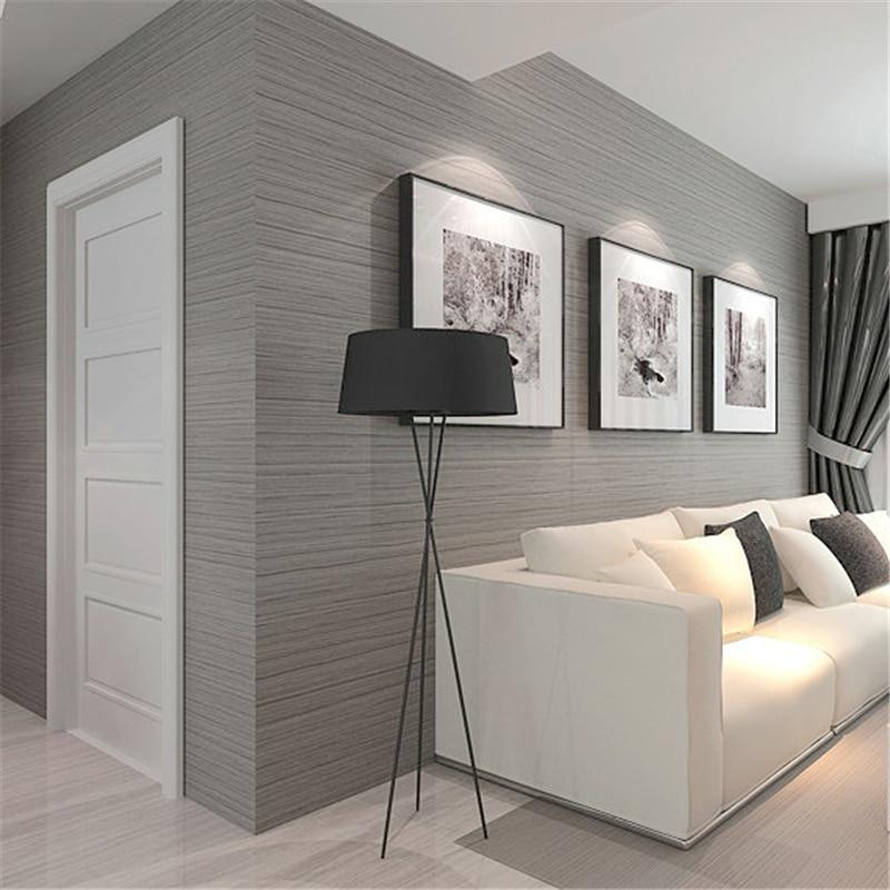 bedroom gray simple living plain sofa behang parati carta slaapkamer moderne woonkamer grey dark paper camera grigio moderno soggiorno beibehang