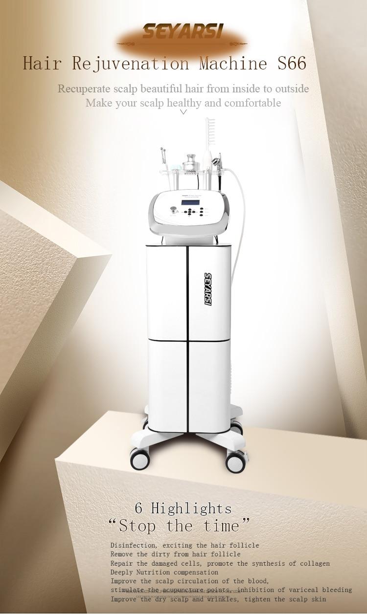 Salone naudojama kelių funkcijų prabangi galvos odos priežiūros mašina S66, intelektuali plaukų atjauninimo mašina