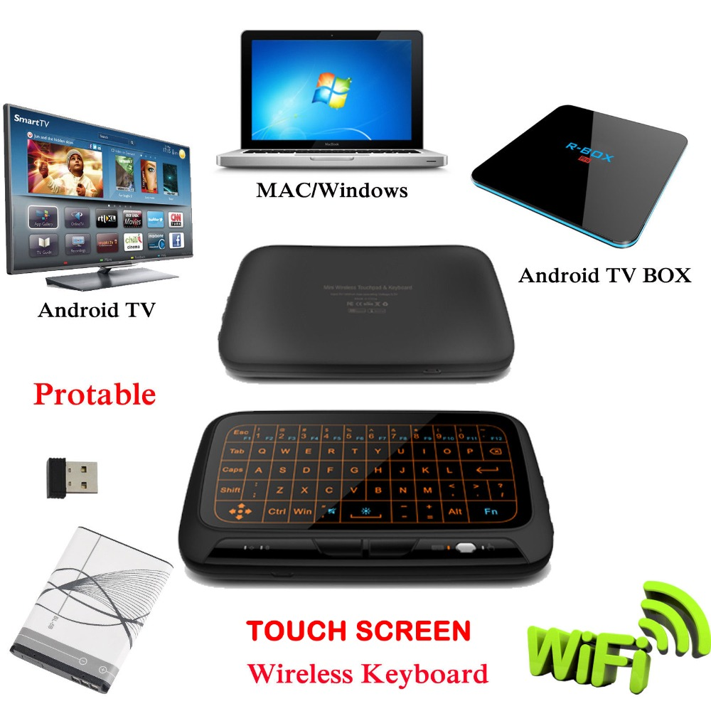 US $21 56 |XGODY H18+ Touch Screen Wireless Keyboard Mini Wifi Keyboard for  Smart Android TV Box Computer Laptop-in Set-top Boxes from Consumer
