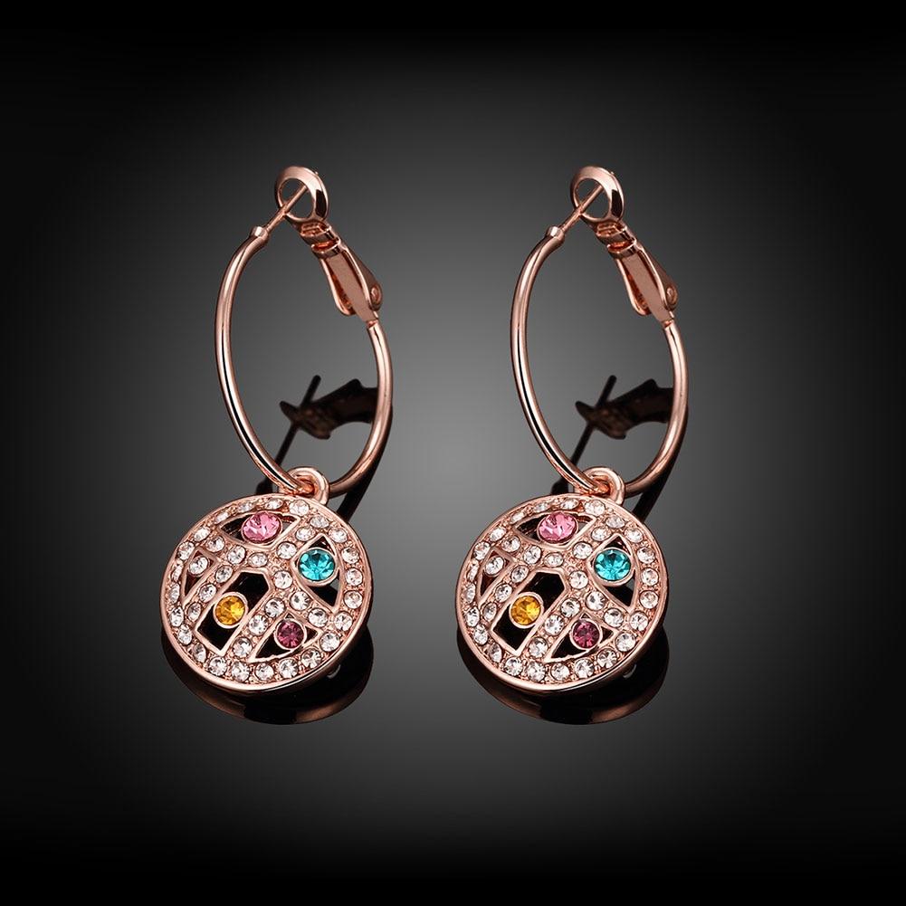 CINDIRY Brass Zircon Woman Earrings Pop Jewelery Banquet Clothing Decorations Beautiful Jewelry Woman Stud Under $2
