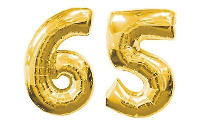 Grandma Happy 65th BIRTHDAY PARTY DECORATE Kits Gold Silver GIANT 65 FOIL Mylar BALLOONS Nos 6