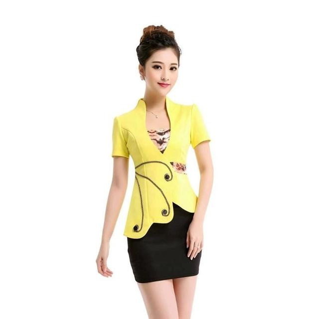 66fa17503661d8 Summer style 2 pie OL Slim vest skirt suit Sexy Carreer Dresses skirt  office uniform style