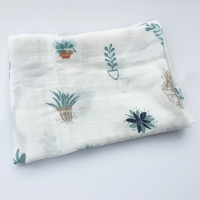 Ins Summer Beautiful New Baby Muslin Scarf Cotton Gauze Infant Baby Thin Quilt