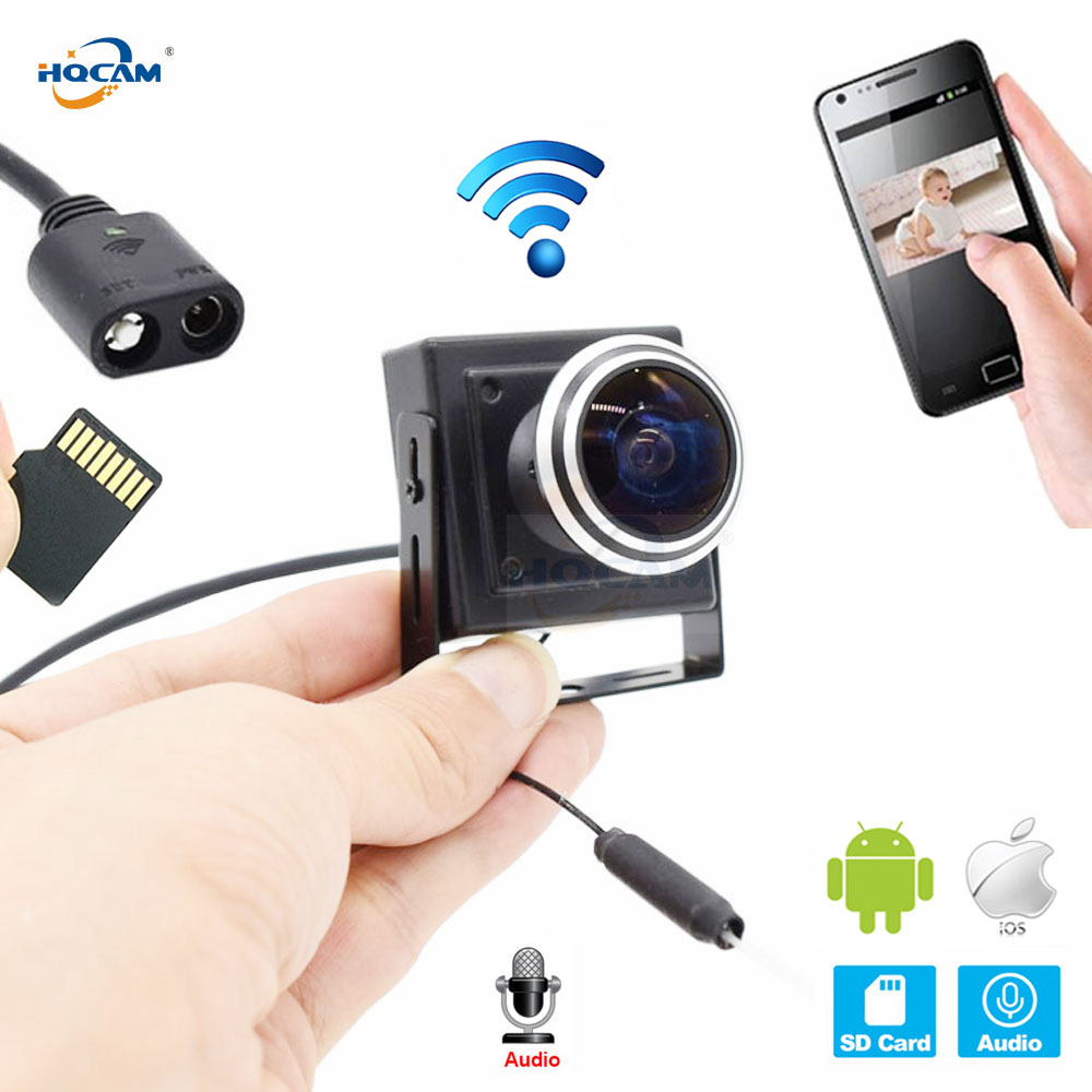 HQCAM CCTV Security Mini Ip Camera wifi 720P 960P 1080P Surveillance Support Audio SD Slot Ipcam Wireless 1.78mm wide Angle lens