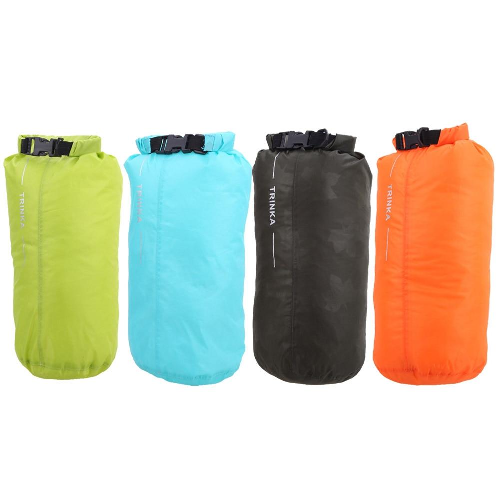 8L Fully Seam Sealed Draw String Bag Nylon Waterproof Dry Bag Pouch for Canoe Kayak Frame Rafting Camping Hiking bolsas